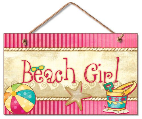 Beach Girl Wood Wall Sign