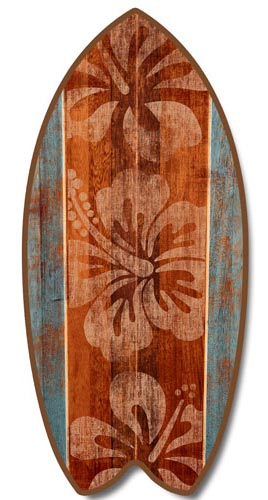 Hibiscus Surfboard Sign