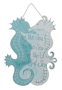 By The Sea Seahorse Sign