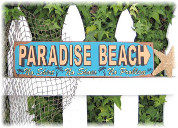 Paradise Beach Tin Sign