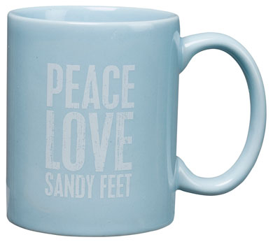 Peace Love Sandy Feet Coffee Mug