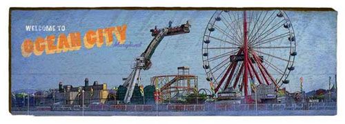 Ocean City Amusement Park Milled Wood Art