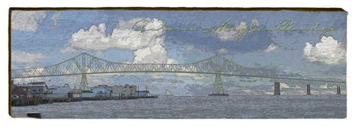 Astoria Megler Bridge 2 Milled Wood Art