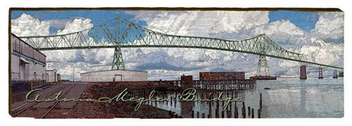 Astoria Megler Bridge 3 Milled Wood Art