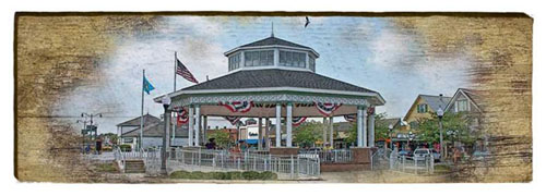 Rehoboth Beach Bandstand Milled Wood Art