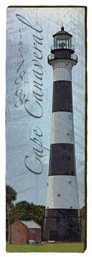 Cape Canaveral Lighthouse Milled Wood Art