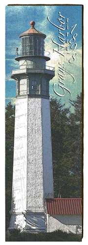 Grays Harbor Lighthouse Milled Wood Art