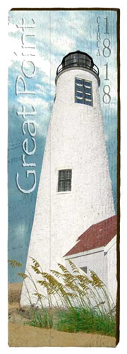 Great Point Lighthouse Milled Wood Art