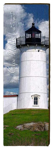 Cape Neddick Lighthouse Milled Wood Art