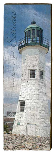 Scituate Lighthouse Milled Wood Art
