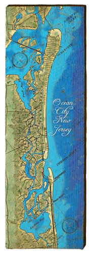 Ocean City Milled Wood Art