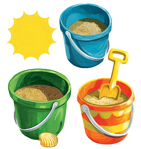 Sand Buckets Wall Cutouts