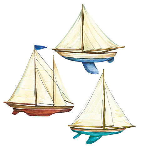 Sailboats Peel & Stick Vinyl Decals