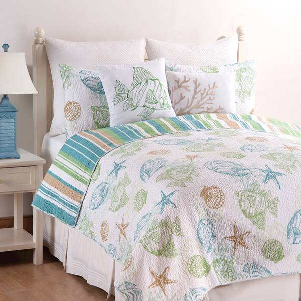 Reef Point Reversible Quilt Set