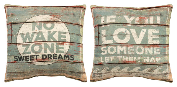 No Wake Zone Reversible Pillow